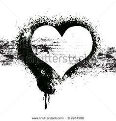vector grunge heart symbol design, love concept - stock vector