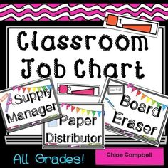 Classroom jobs using a whiteboard theme. Product contains: -56 Jobs (Whole-page and half-page)-24 Whiteboard Markers with Student Numbers on them -Editable slides to add your own jobs Print and laminate job titles and whiteboard markers. Match the markers with job titles to display classroom jobs!