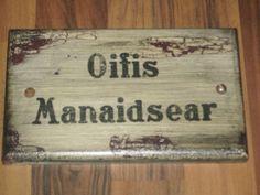 Büroschildchen für Destillery-Manager und alle, die es gerne wären.
