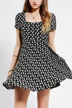 Pins And Needles Floral Cross-Back Dress - Urban Outfitters
