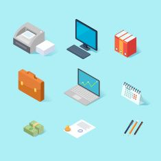 Art Illustration More Office Isometric Art Illustrations Vector Art