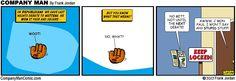 1st debate, edge: mittens! http://CompanyManComic.com No Dumb Joke Thursday, seriously!