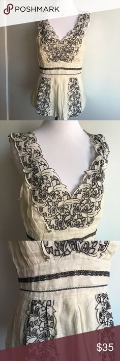 New Anthropologie Floreat Embroidered Top 10 New Anthropologie Floreat Cotton Embroidered Top 10. Please look at pictures for better reference. Happy Shopping! Anthropologie Tops Blouses