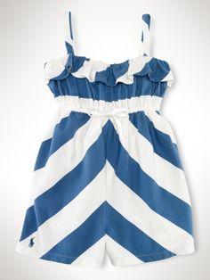 Nautical Striped Romper - Girls 2-6X Dresses & Rompers - RalphLauren.com