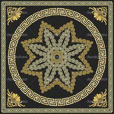Vector Traditional vintage gold Greek ornament (Meander) — Ilustración de stock #37816907