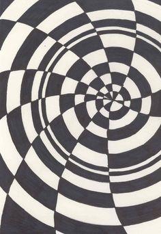 optical art lesson | Optical+illusion+art+lesson