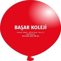 Tek Taraf Tek Renk Bask�l� Balon