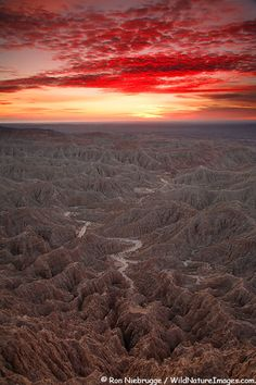 Sunrise at Font's Point, Anza-Borrego Desert State Park, California.
