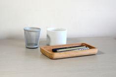 Oak stationery holder, handmade by Utology