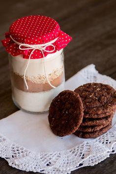 [Receita] Cookie no pote de vidro, para presentear