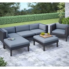 Shop CorLiving Oakland Sofa, Chaise Lounge and Chair Patio Set at Lowe's Canada. Find our selection of outdoor conversation sets at the lowest price guaranteed with price match. Lounge Sofa Outdoor, Sofa Lounge, Lounge Seating, Outdoor Living, Luxury Sofa, Dcor Design, Design Ideas, Patio Chairs, Office Chairs