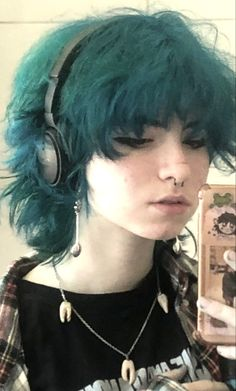 Dye My Hair, New Hair, Hair Inspo, Hair Inspiration, Androgynous Hair, Edgy Hair, Shot Hair Styles, Fluffy Hair, Hair Reference