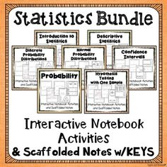 Are you having trouble getting your students to take effective notes during math lessons? Are you looking for quick activities that can be completed in a math journal or at the end of a lesson as a check for understanding? If so, these activities are for you.These math journal and/or note-taking activities introduce students to seven units of statistics (over 200 pages of useful materials).