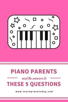 Even if piano parents don't ask, piano teachers should answer these 5 questions during an interview or first meeting #PianoTeaching #TeachPianoToday