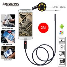 """5.5 мм 2 М USB Эндоскоп Водонепроницаемая Камера эндоскоп Андроид Эндоскоп Бороскоп 6 СВЕТОДИОДНЫЙ Мини Змея Инспекции Камеры Endoscopio5.5 мм 2 М USB <font style=""""font-size: 105.0%;""""><strong>Эндоскоп</strong></font> Водонепроницаемая Камера <font style=""""font-size: 105.0%;""""><strong>эндоскоп</strong></font> Андроид <font style=""""font-size: 105.0%;"""