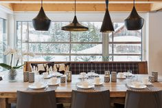"""der Tisch ist gedeckt"" Ceiling Lights, Lighting, Table, Furniture, Home Decor, Chalets, Luxury, Homes, Decoration Home"