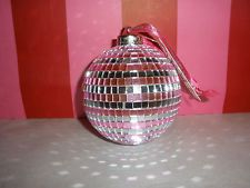 Victoria's Secret BLING Mirror Ornament Ball - i love the pink/silver mirror mosaic... maybe a light?