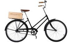 I want a bike like this! There's an even cooler one in my neighbourhood that's red and has a wooden wine crate on the back, but this one would do.