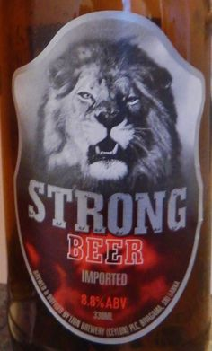 Lion Strong Beer, a beer from Sri lanka