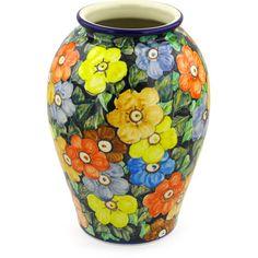 Polish Pottery 12-inch Vase | Boleslawiec Stoneware | Polmedia H2175F