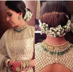 Flower Arrangement For #Bridal #Hairstyle #Fashion #Threads