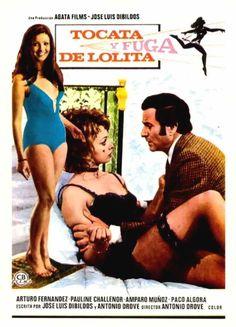 """Tocata y fuga de Lolita"" by Antonio Drove Best Movie Posters, Movie Titles, Film Posters, Jimi Hendrix, Mad Movies, Swedish Girls, New Cinema, Pulp Art, Vintage Movies"