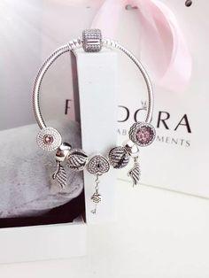 50% OFF!!! $199 Pandora Charm Bracelet Pink. Hot Sale!!! SKU: CB01712 - PANDORA Bracelet Ideas