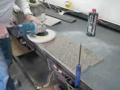 Episode 9 Deeply Scratched Dupont Corian Countertop Is Repaired To A Great Finish You