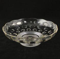 Olive Pedestal Fruit Bowl Imperial Glass Vintage. $27.00, via Etsy.