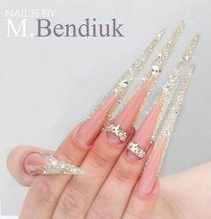 Snow nail art.