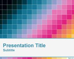 Diagonal Pixel Color PowerPoint Template is an awesome slide design for Microsoft PowerPoint presentations featuring colorful squared pixels in the master slide