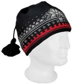 Dale of Norway Women's Dale 125th Anniversary Hat, Black/Cream/Raspberry, Medium by Dale of Norway. $49.50. Two sizes: Medium and Large. Authentic Norwegian design and quality. Able to absorb moisture without feeling wet. Lined for comfort. 2-ply Heilo Wool. Commemorating Dale of Norway's 125th Anniversary. Dale of Norway's hats are the ultimate complement to our sweaters and jackets but are also appealing on their own.  They are complete with a lining for comfort.