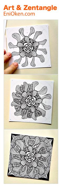 Learn how to create beautiful Zendala & Zentangle®️ • enioken.com