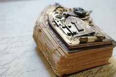 Mini book with gothic arch and keyhole