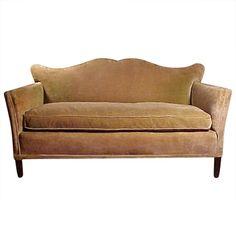 Vintage Mid century Designer 40s Sofa manner Tommi Parzinger hollywood regency