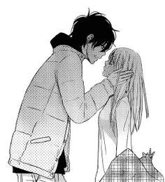 Manga Shoujo - Tonari no Kaibutsu-kun Manga Couple, Anime Love Couple, Couple Cartoon, Cute Anime Couples, Romantic Anime Couples, My Little Monster, Little Monsters, Manga Romance, Manga Anime
