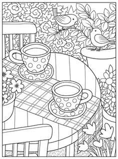 Inkspirations InTheGarden Coffee In The Garden