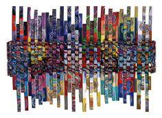 """You Are Here"" -Papier von Peggy Dembicer - Paper Weaving, Weaving Textiles, Weaving Art, Auction Projects, Art Projects, Arts And Crafts, Paper Crafts, Weaving Projects, Art Graphique"