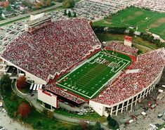 Indiana University Football Stadium - Yep.  Red n White Baby.  Used to live across the street from it!