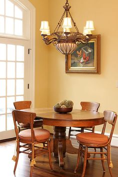 Dining Room: I like this wall color