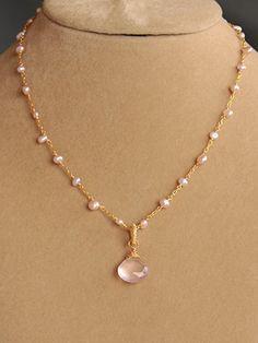 Rose Petal Necklace Pendant | Harmony Scott Jewelry Design