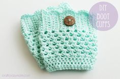 Crochet : How to crochet boot cuffs