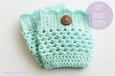 Crochet : How to crochet boot cuffs