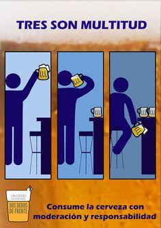 TRES (cervezas) SON MULTITUD #undedodeespuma #undedodespuma