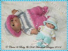"""Летом все в один набор для 5 и 8 """"Chubby Berenguer куклы-Berenguer, образец вязания"""