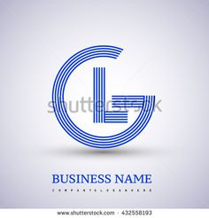 Letter GL linked logo design circle G shape. Elegant blue colored letter symbol. Vector logo design template elements for company identity. - stock vector