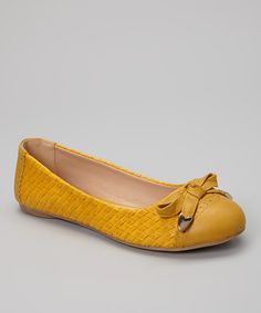 Take a look at this Mustard Basket Weave Drew Ballet Flat on zulily today!