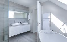 Are you planning for small bathroom renovation in Newcastle but didn't have optimum budget? Checkout how an expert bathroom builder in Newcastle can plan your bathroom renovation within your budget. White Bathroom Interior, Bathroom Ideas White, Grey Marble Bathroom, Grey Bathroom Cabinets, Modern White Bathroom, Bathroom Trends, Bathroom Furniture, Bathroom Renovation Cost, Bathroom Remodeling