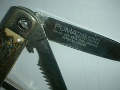 The Sangrail ! Puma Model 999 Zerlegbar,Take Apart Folding Knife TASCHENMESSER Collectible Knives, Take Apart, Folding Knives, Model, Ebay, Pocket Knives, Collector Knives, Butterfly Knife