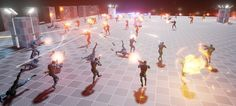 AI combat stresstest in Game Character, Character Concept, Video Game Development, Game Design, 3d Design, 3d Tutorial, Game Engine, Unreal Engine, Cg Art